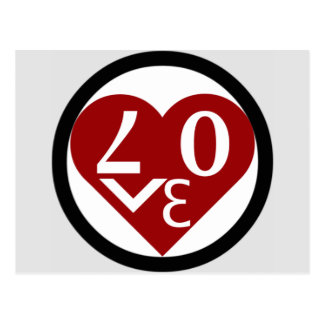 Heart Love Postcard