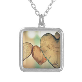Heart Love Romance Valentine Romantic Harmony Silver Plated Necklace