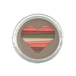 Heart Love Striped Valentine's Day