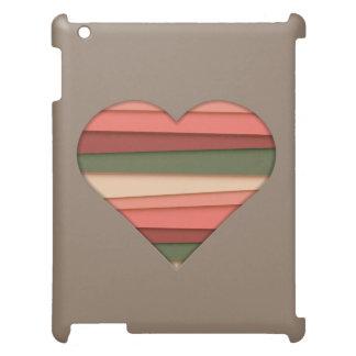 Heart Love Striped Valentine's Day iPad Cover