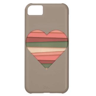 Heart Love Striped Valentine's Day iPhone 5C Case