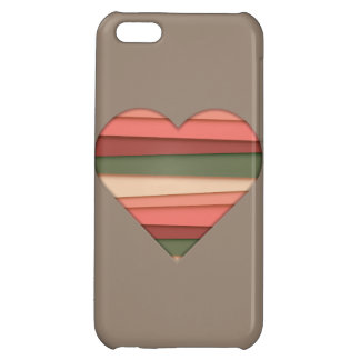 Heart Love Striped Valentine's Day iPhone 5C Cases