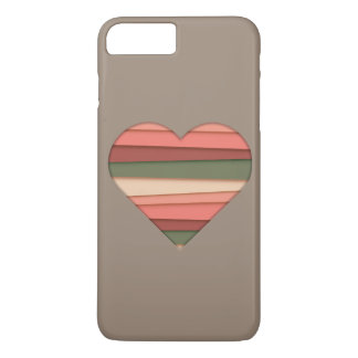 Heart Love Striped Valentine's Day iPhone 8 Plus/7 Plus Case