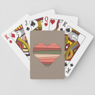 Heart Love Striped Valentine's Day Playing Cards