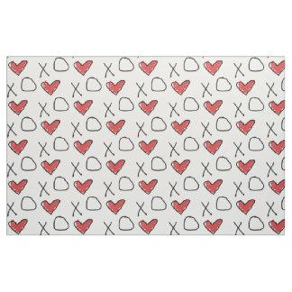 Heart Love X O Fabric