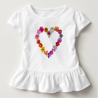 Heart made of photographs of flowers toddler T-Shirt
