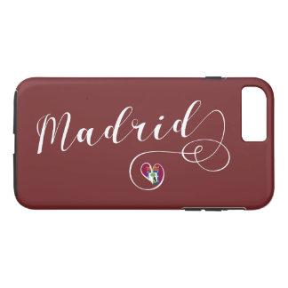 Heart Madrid Cell Phone Case, Spain iPhone 8 Plus/7 Plus Case