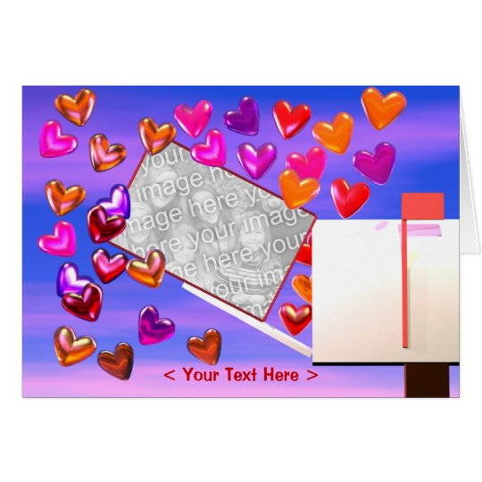Heart Mail Photo Frame Card