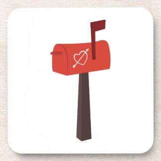 Heart Mailbox Drink Coaster