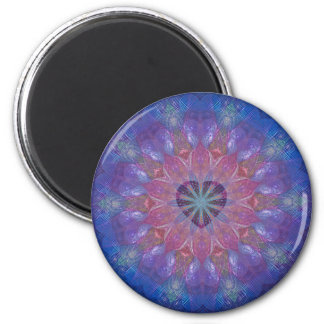 Heart Mandala 6 Cm Round Magnet