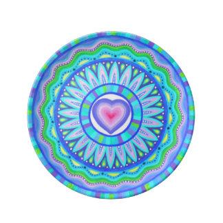 Heart mandala plate