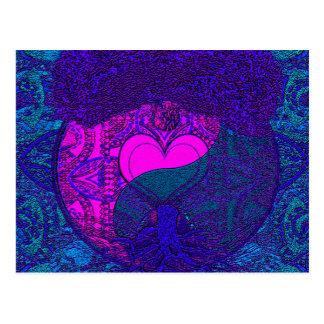 Heart Mandala Tree Postcard