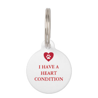 Heart Medical Alert Pet Tag