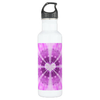 Heart Meditation Mandala 710 Ml Water Bottle