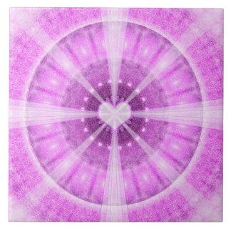 Heart Meditation Mandala Ceramic Tile