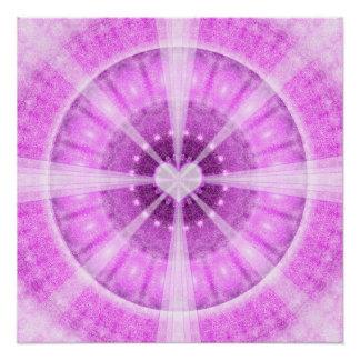 Heart Meditation Mandala Poster