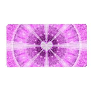 Heart Meditation Mandala Shipping Label
