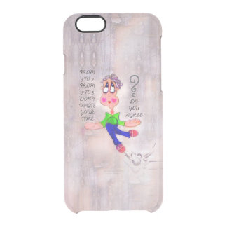 Heart Melting Melancholic Cartoon Pout Clear iPhone 6/6S Case