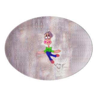 Heart Melting Melancholic Cartoon Pout Porcelain Serving Platter