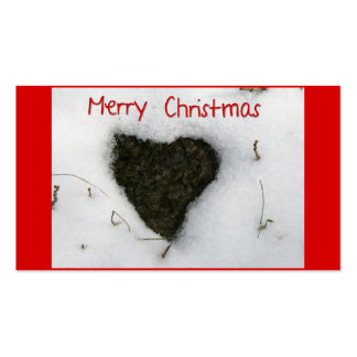 Heart melting snow Merry Christmas Business Cards