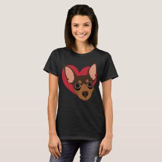 Heart Min Pin T-Shirt No1