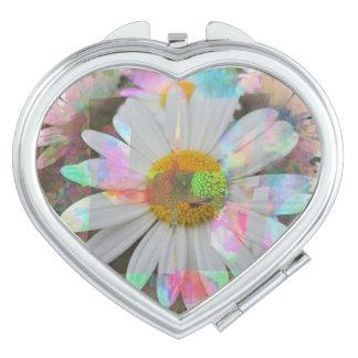Heart mirror flower picture travel mirrors