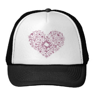 heart mix graphic design hats