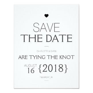 {Heart} Modern Save the Date Card