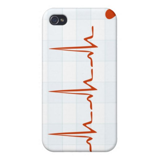 Heart Monitor Beating Case For iPhone 4