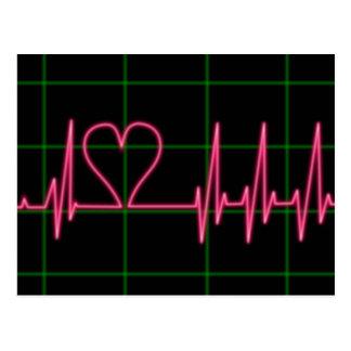 Heart Monitor Postcard