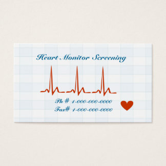 Heart Monitor Screening Appointment Card