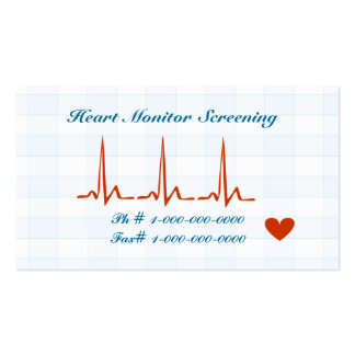 Heart Monitor Screening Appointment Card Pack Of Standard Business Cards