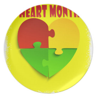 Heart Month - February - Appreciation Day Plate