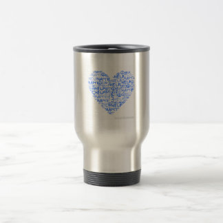 Heart Mosaic Travel Cup (profits go to Haiti)