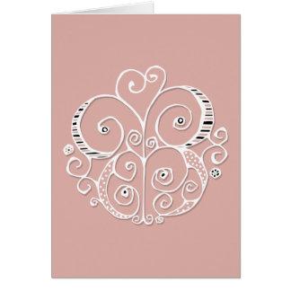 Heart Motif white Card
