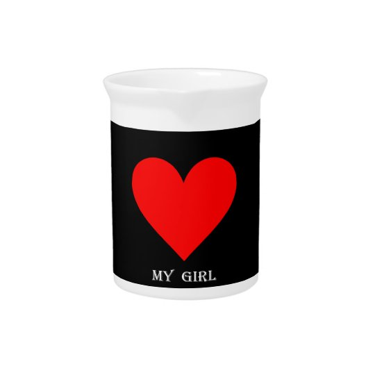 Heart My Girl Pitcher