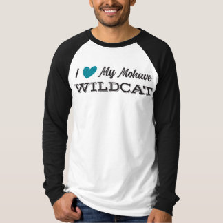 Heart My Mohave Wildcat: Adult baseball t-shirt