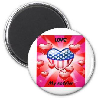 heart my soldier fridge magnet