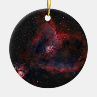 Heart Nebula Round Ceramic Decoration
