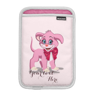 Heart Nose Pink Puppy Cartoon iPad Mini Sleeve