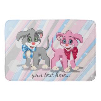 Heart Nose Puppies Cartoon Bath Mat
