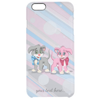 Heart Nose Puppies Cartoon Clear iPhone 6 Plus Case