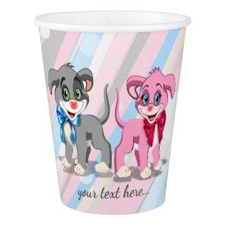 Heart Nose Puppies Cartoon Paper Cup