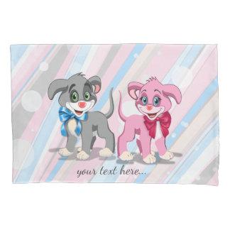 Heart Nose Puppies Cartoon Pillowcase