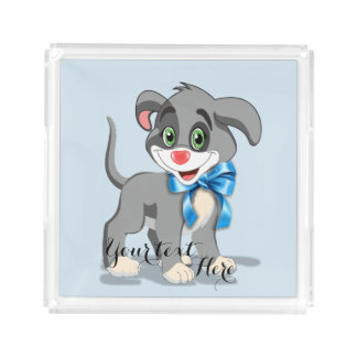 Heart Nose Puppy Cartoon Acrylic Tray