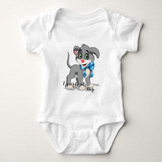 Heart Nose Puppy Cartoon Baby Bodysuit