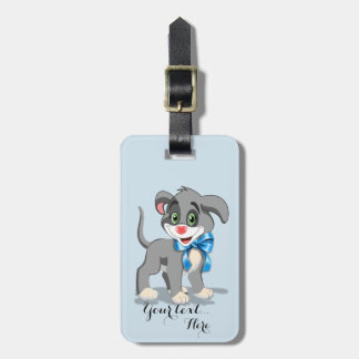 Heart Nose Puppy Cartoon Bag Tag