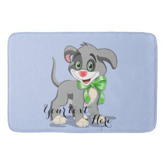 Heart Nose Puppy Cartoon Bath Mat