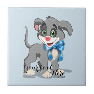 Heart Nose Puppy Cartoon Ceramic Tile