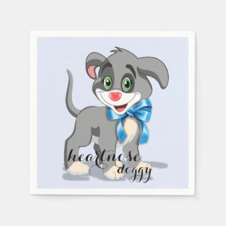 Heart Nose Puppy Cartoon Disposable Napkin